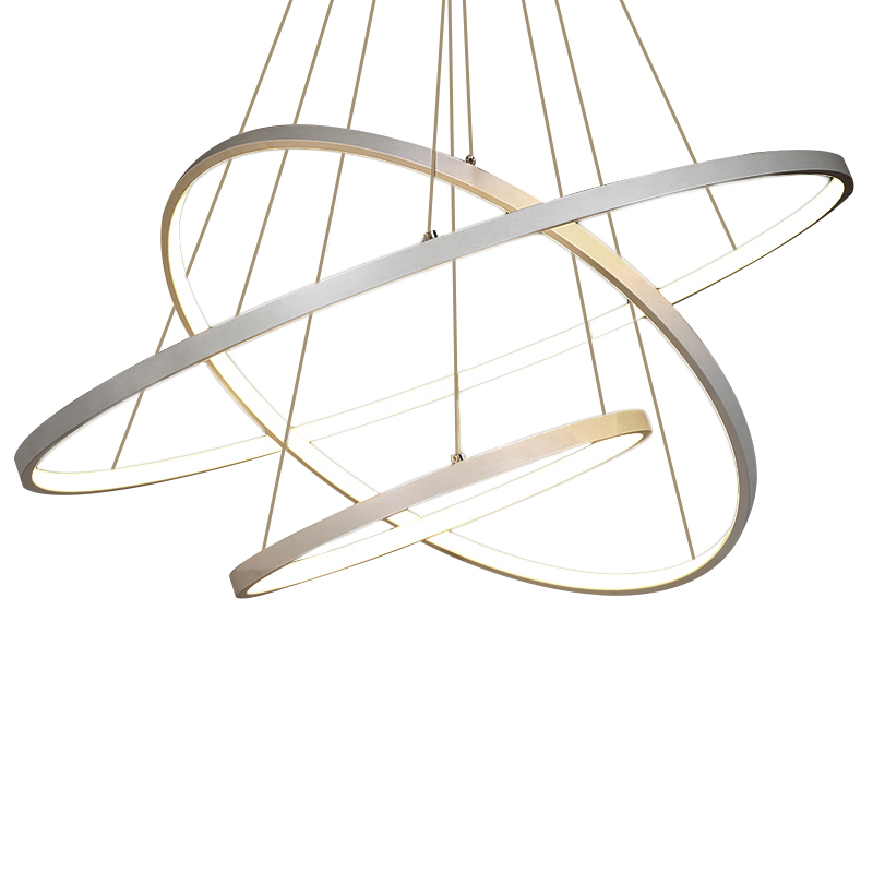 Modern Acrylic Pendant Lamp 3 Rings Acrylic Aluminum Body Led Pendant Lamp For Living Room Dining Room