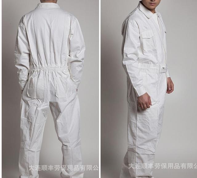 M-4xl Work Siamese Overalls Men's Auto Repair Suit Female Spring And Autumn Work Jumpsuit Long-sleeved Cotton Tooling Coverall 4
