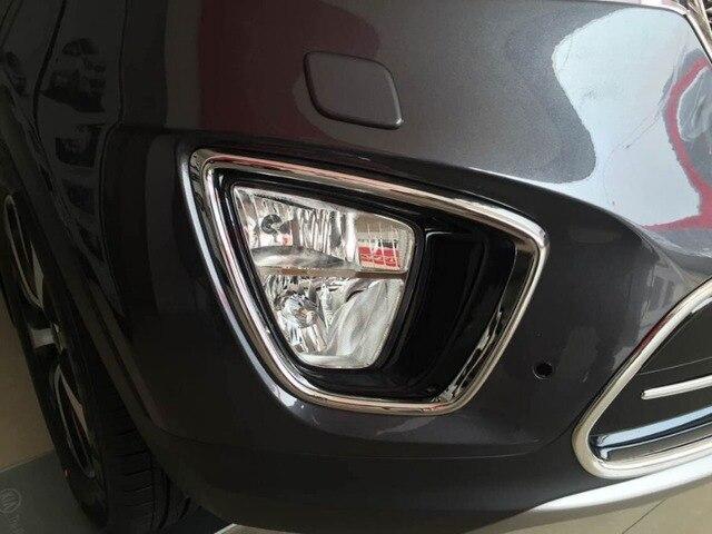 Auto chrome accessories,front fog light cover lamp trim for KIA Sorento 2015,ABS chrome,free shipping