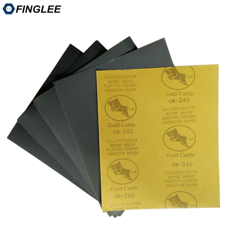 5pcs 230x280mm Black Silicone Sanding Paper,Waterproof Paper,Wet And Dry Sandpaper Abrasive,Grit180 240 320 800 1000 1500 2000