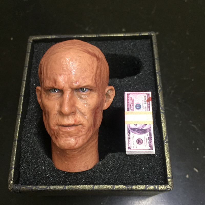 Plastic 1/6 Warrior Head Carving Warrior Reynolds Searing Soul Sending Banknotes Eco Materials Memorial Toys Handmade Dolls