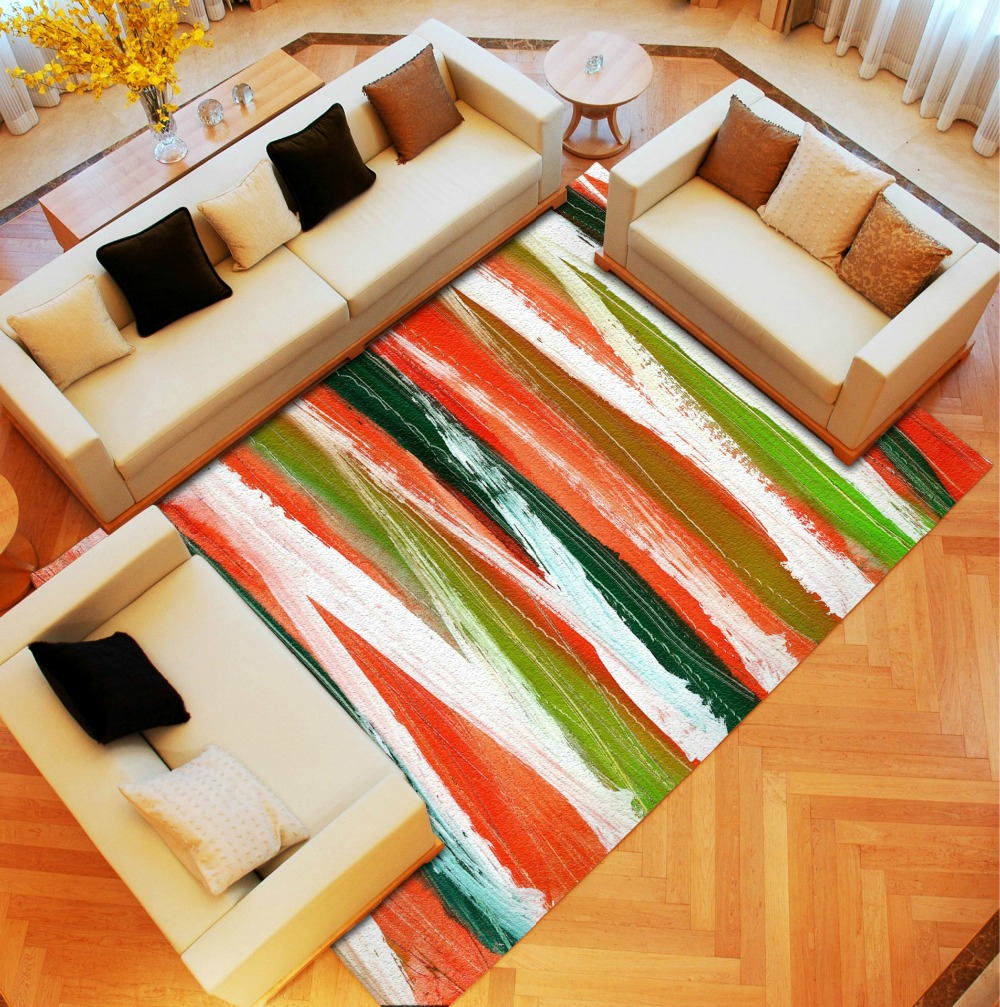 Modren Brief Carpet Reactive Printing Large Size Parlor Living Room Table  Sofa Mats Bath Kitchen Rugs Children Kids Play Carpets