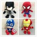 1 шт. Аниме Marvel Мстители Плюшевые Игрушки Куклы Ironman Капитан Америка Человек-Паук Супермен Мягкие Плюшевые куклы мальчик детям подарки