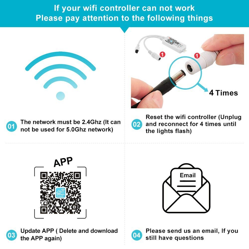 Wifi Wireless Led Smart Controller For Alexa Google Home Ifttt  Compatible,Working For Android,Ios System, Grb,Bgr, Rgb Led Str