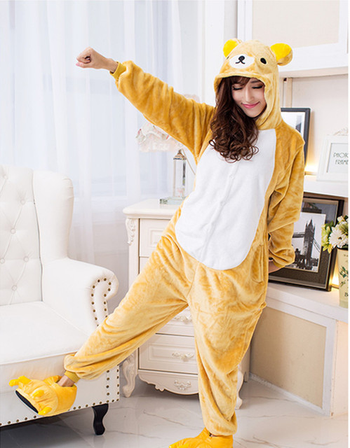 e0bc8b827 Anime Pijama Cartoon Unisex Adult Rilakkuma Pajamas Cosplay Costume ...