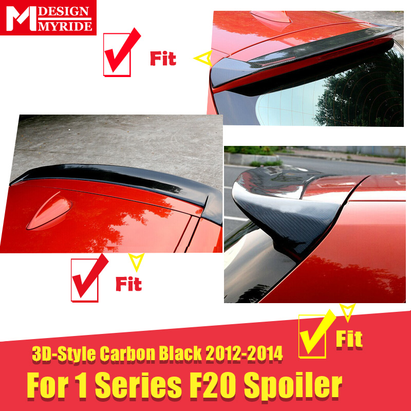 Для BMW F20 задний спойлер багажника крыло настоящий углерод волокно 3d стиль утка крыло 1 серия 118i 120i 128i крылья спойлера на заднюю крышу 2012 14 - 2