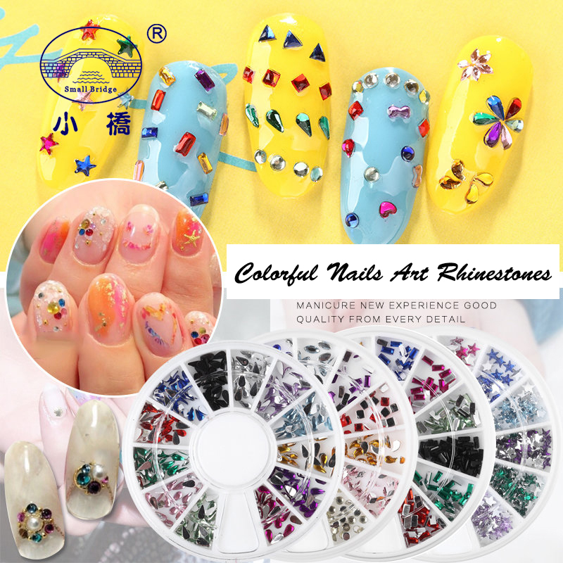 Glitter Colorful Flatback Rhinestone Wheel Diy 3D Nail Art ...