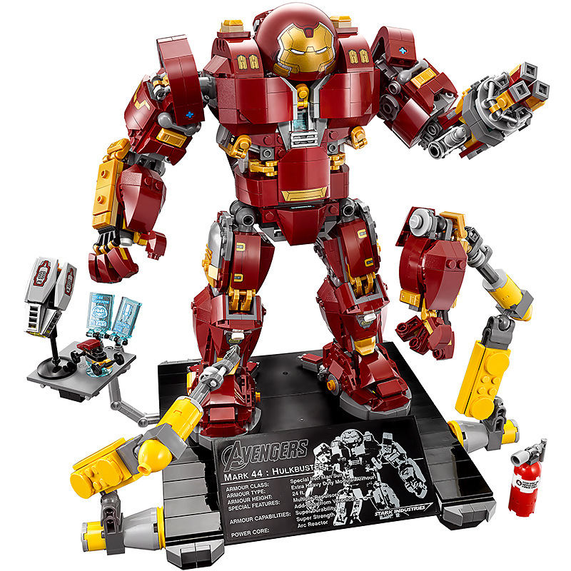 Marvel Super Heros Series Compatible with Lego 76105 Iron Man Anti Hulk Mech Toys For Kid Building Bricks Blocks Model DBP314 super large 256pc building blocks set compatible with lego friends series pop star limo model brinquedos bricks toys for girls