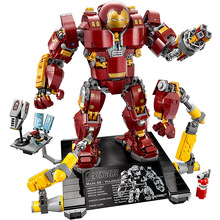 Marvel Super Heros Series Compatible with Sermoido 76105 Iron Man Anti Hulk Mech Toys For Kid Building Bricks Blocks Model цена