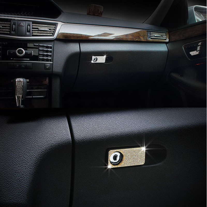 car styling Car sticker For Benz C E GLK CLS GL GLE CLASS Auto Car Console Storage Glove Box Handle Cover Trim for Accessories