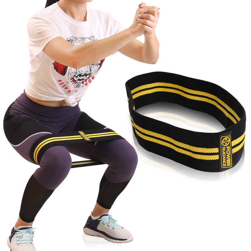 POWER GUIDANCE Cotton Hip  Resistance Bands Set Booty Exercise Elastic Bands For Fitness Workout Hips & Glutes 5