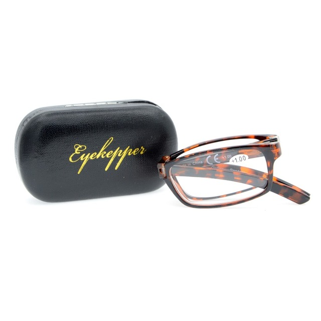 R123 Eyekepper Unique Spring Hinges Folding Reading Glasses  +0.50----+4.00