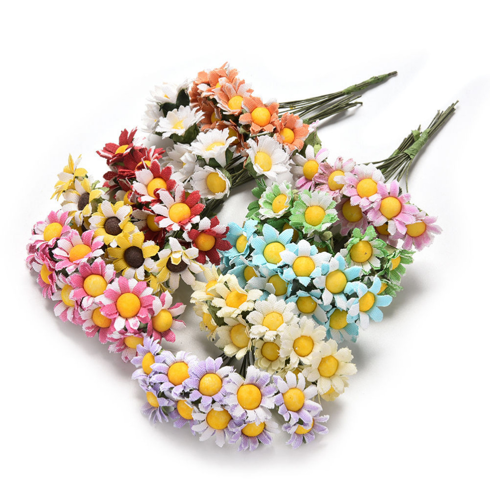 Online get cheap artificial daisy leaves aliexpress alibaba 2017 10pcslot mini artificial daisy flowers bouquet 10 colors scrapbooking flower flowers diy ball dhlflorist Gallery