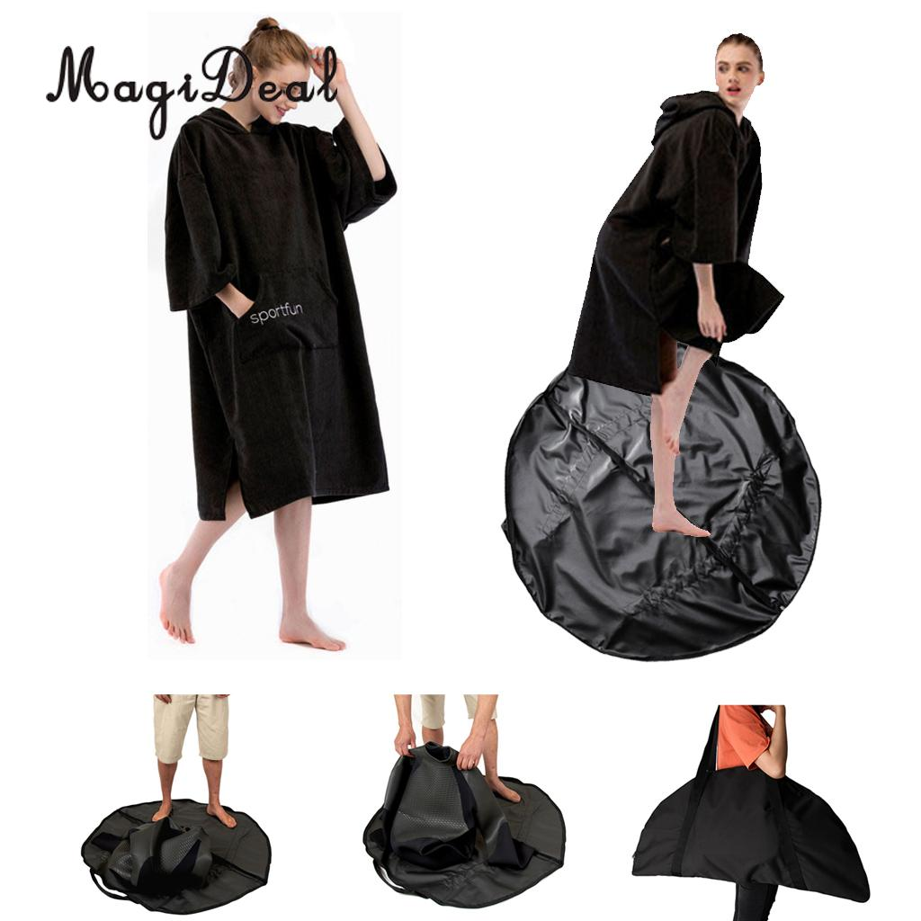 Beach Poncho Changing Robe & Swimming Surfing Wetsuit Diving Suit Change Bag Mat Waterproof Carry Pouch Water Sports Accessories