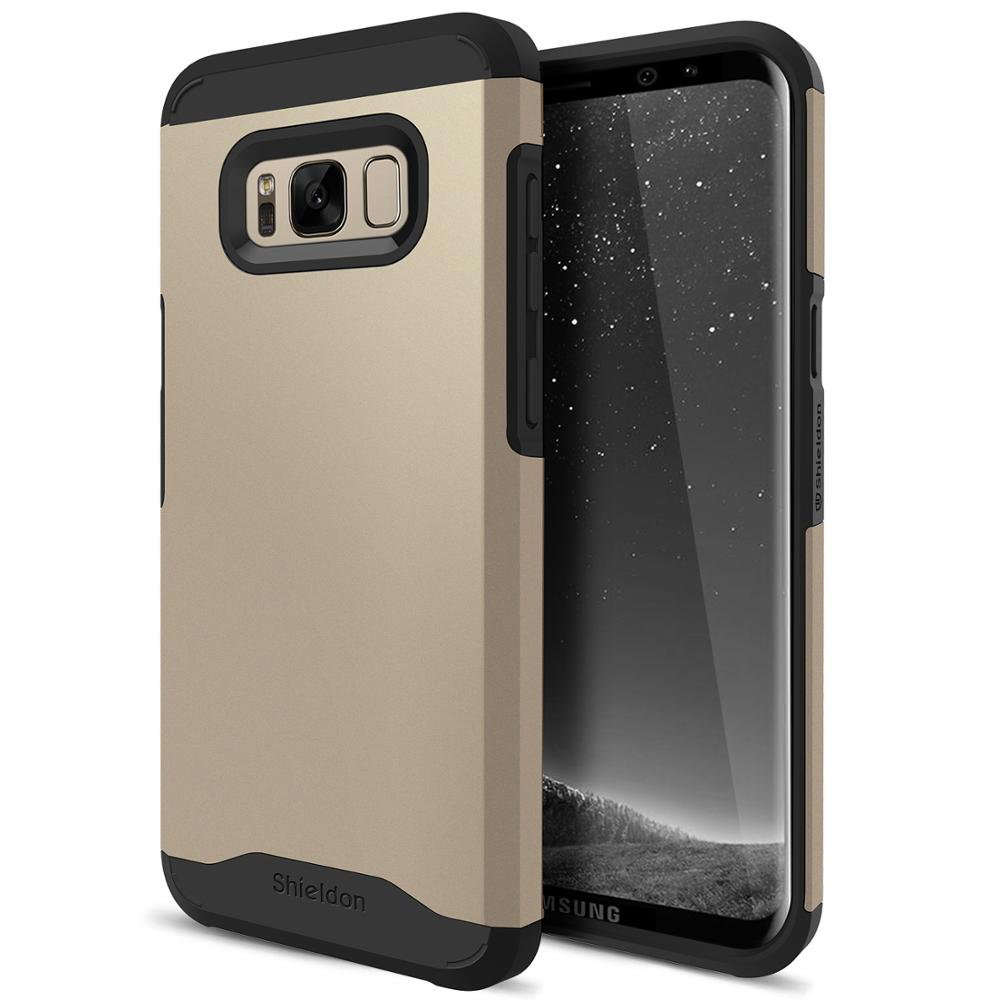 SHIELDON Galaxy S8Plus【Mountain】Case,Thin Fit Shock Absorption 2 in 1 Dual Layer Design Shock-Proof Protection Case