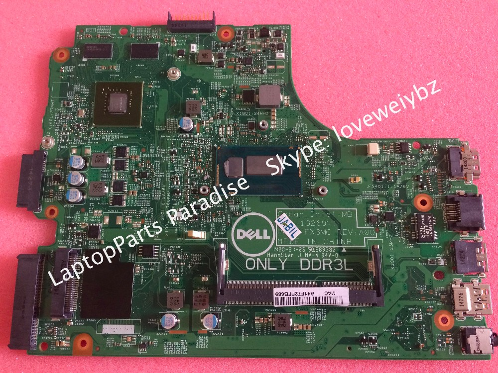 Free shipping New Fx3MC Rev A00 mainboard For DELL Inspiron 3542 3442 motherboard with Nvidia 820M GPU I3-4005U CPU for dell inspiron series n5110 motherboard mainboard g8rw1 tested free shipping