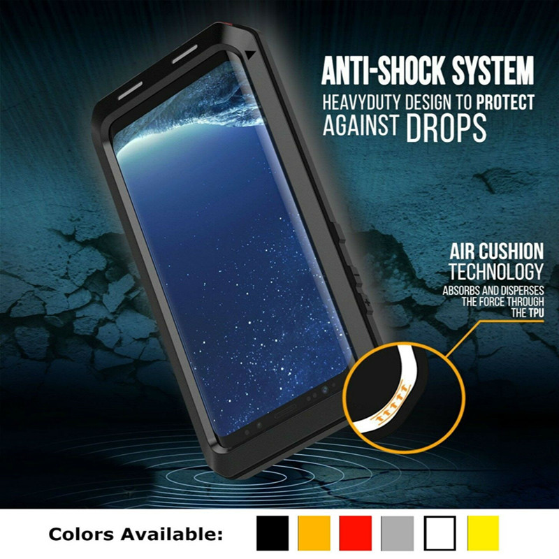 Metal Case Doom Armor Case Heavy Duty Mobile Phone Cases for Samsung Galaxy S5 S6 S7 Edge S8 S9 Plus Note 9 8 5 Shockproof Cover