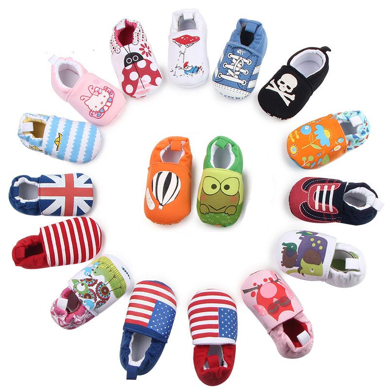 Toddler Shoes Joyo Roy Baby Baby-Boy-Girl Non-Slip Infant Cartoon Cotton New Cute Print