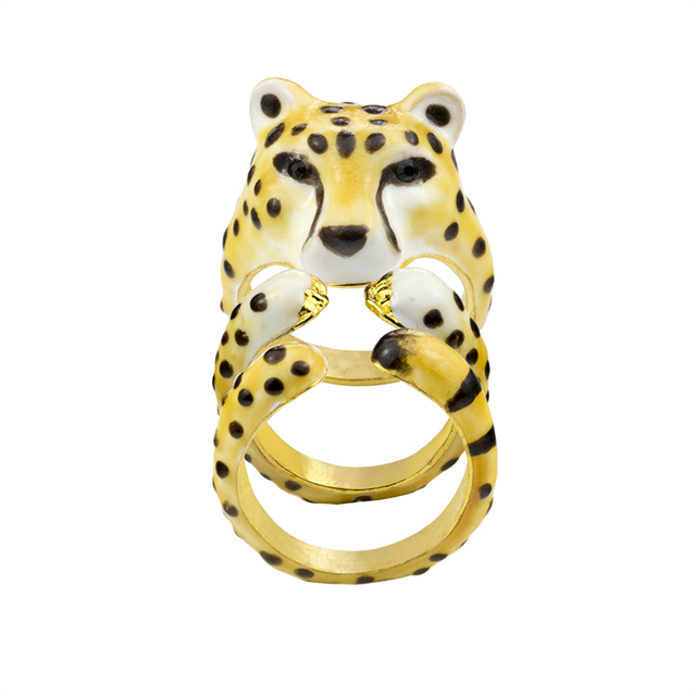 3Piece Top Quality Spotted Leopards Ring Set