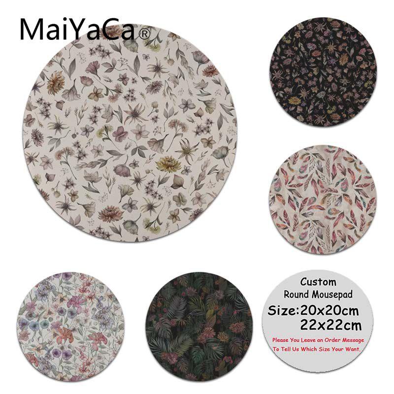 MaiYaCa Custom Skin Botanical Study Laptop Gaming Mice Mousepad Round Mouse Pad PC Computer Mat