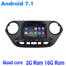 Android 7 1 Quad core Car dvd gps for Hyundai I10 2014 2016 with wifi 4G