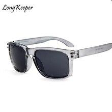 2018 Classic Sunglasses Men Sport Driving Mirrors Coating Points Black Grey Frame Eyewear Male Glasses UV400