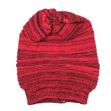 MYPF-Женщины Шапка Теплая Зимняя Шапка Крышка Конопли Женщина Зимняя Шапка (Красный)
