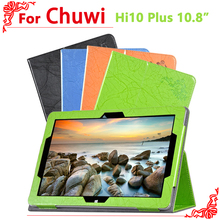high quality Cover Case For Chuwi Hi10 Plus 10.8 inch Tablet PC Luxury Floral Print Leather Case Smart Cover + free 2 gifts