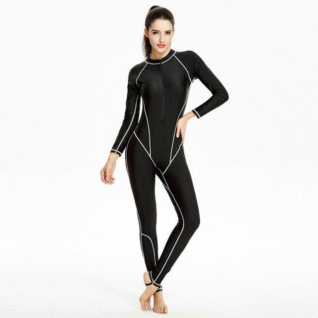 5268eade01b7 € 29.91 |Traje completo 2017 traje de buceo de manga larga traje de baño de  cuerpo completo de trajes de baño para las mujeres ropa de pesca sport ...