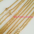 "Top Hot Selling 16""-40"" Free Choose 5pcs/10pcs 4mm Gold Plated Cuban Curb 316L Stainless Steel Link Chain Necklaces Wholesale"