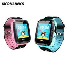 Moonlinks V6G smartwatch kids gps watch phone call IP67 waterproof smart watch for children watches android erkek kol saati