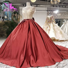 AIJINGYU Frocks Simple Bride Angel Sexy Bridal Gowns