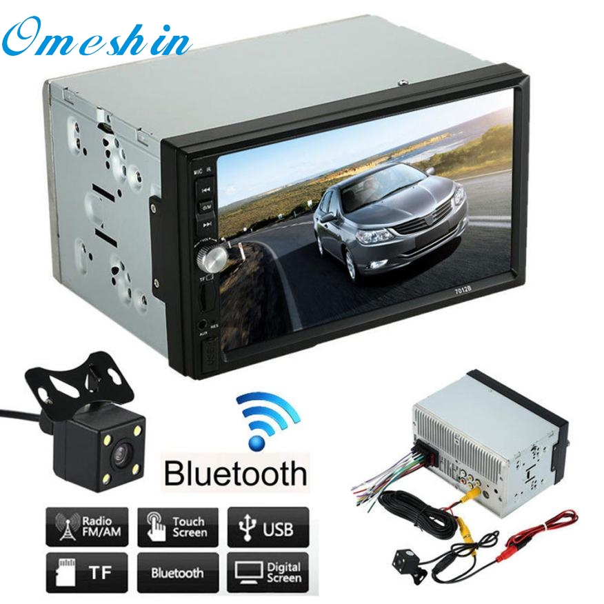 New Arrival   Double 2 Din Car Stereo MP5 MP3 Player Radio Bluetooth USB AUX + Parking Camera 7 hd 2din car stereo bluetooth mp5 player gps navigation support tf usb aux fm radio rearview camera fm radio usb tf aux