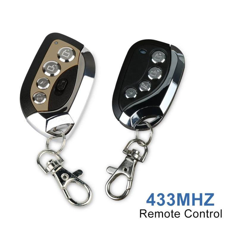 433MHz 12V RF Transmitter Duplicating Cloning Key Fob 4 CH Button Copy Handle Garage Door Opener Universal Remote Control Switch