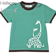 Я-ребенок детские детская одежда для новорожденных футболка для мальчиков футболки для девочек короткий рукав дети мультфильм футболки одежда из хлопка Зеленый
