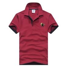 2019 Polo casual lapel mens shirts printed cotton short-sleeve Camisas m-xxxl new brand