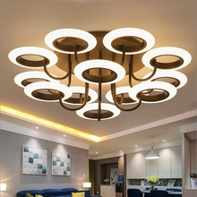 Post-modern personality led luster Chandeliers living room lamps creative shaped  bedroom lighting Fixture