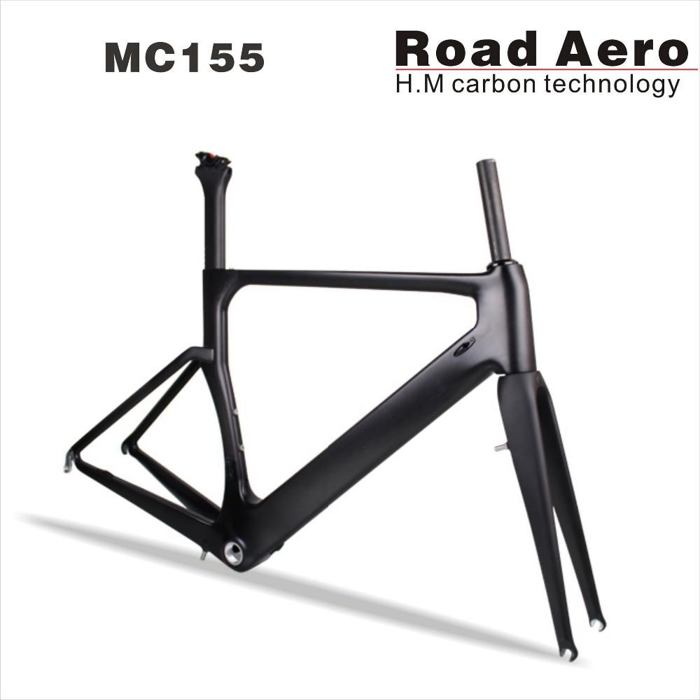 Super Light Carbon Road Frame ,China Carbon Aero Frame Fork Seatpost , Carbon Racing Bicycle Frame 58cm