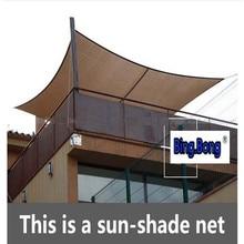 Защита от солнца тени паруса net cotans Защита от солнца экран садовой беседке тент высокого качества наружное дышащая солнцезащиты sail балкон целом чистая