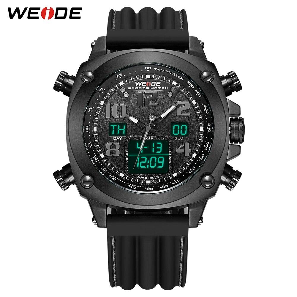 WEIDE Relogio Masculino Black Sports Mens Watch Top Brand Luxury Army Military Quartz Wrist Watch Clock Reloj Hombre drop ship