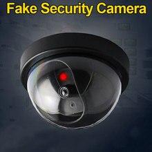 Имитация камеры наблюдения, поддельная домашняя Dome Dummy камера с вспышкой, красный светодиодный светильник, камера безопасности в помещении/на улице