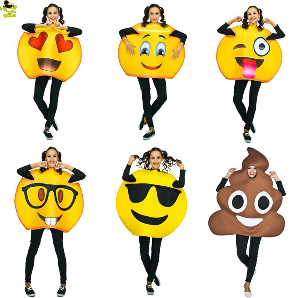 Funny face Emoji Party Costume Cosplay Sponge Clothes Fancy Dress In Christmas lot Costume Suit For s