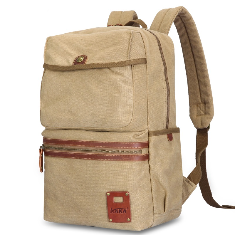 ФОТО 2016 Europe and America  spring and summer new retro casual canvas bag man schoolbag backpack K916