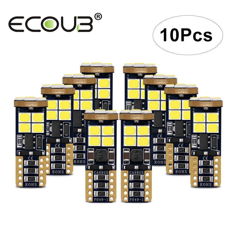 10 Pcs T10 LED Canbus Bulb White W5W High Power 3W T10 Light 12V 24V Error Free No Polar 168 194 Clearance Signal Lamp for Car
