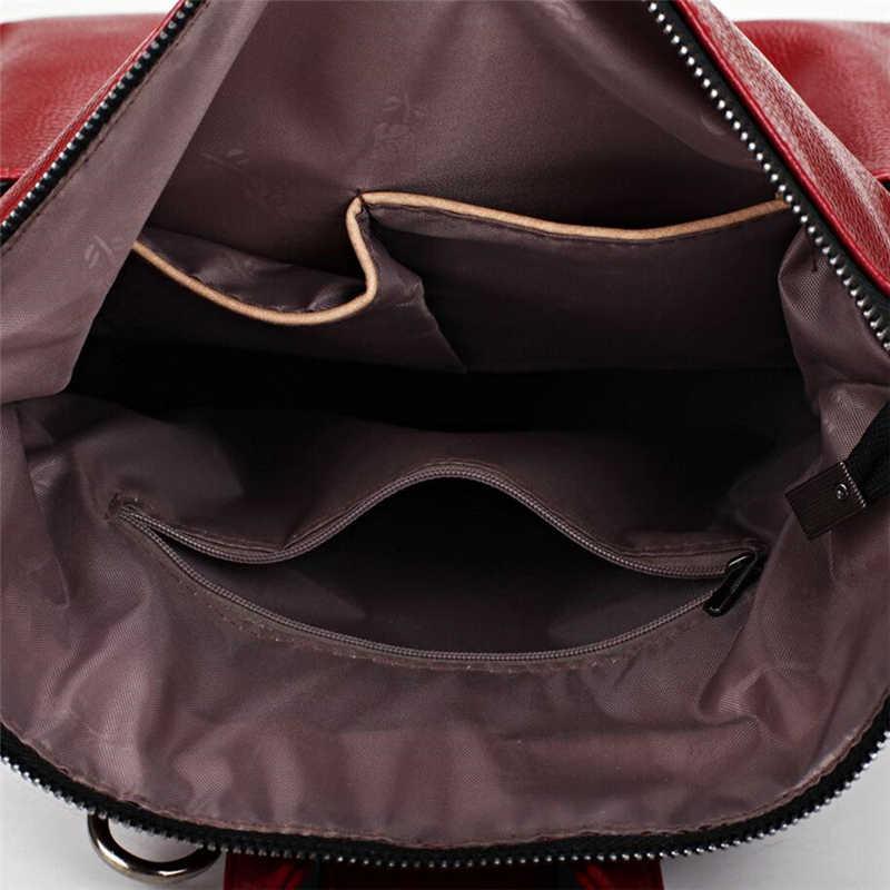 Для женщин рюкзак высокое качество кожа SAC основной Школьные ранцы для подростков Обувь для девочек топ-ручка большой студент Вышивка Крестом Пакет большая сумка
