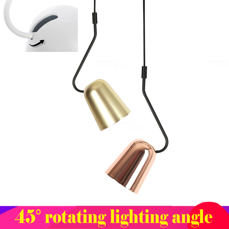 Nordic pendant lamps modern simplicity droplight Iron Electroplating Dudu bird 45 degrees Adjusted pendant lights bar restaurant косметички dudu косметичка dudu серии arbe