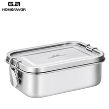 New Lunch Box 304 Top Grade Stainless Steel Silicone Seal Ring Leakproof Bento Box 800ml Children's School Snacks Containers