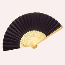50Pcs Free Shipping Black Silk Personalized Folding Hand Wedding Fan Favor Customized Wedding Gift For Guests Abanicos Para Boda