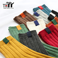 THYY High quality 80% Cotton Women Socks Winter Thermal Warm Ladies Casual Solid Socks Female Candy Color Cotton Women's Socks
