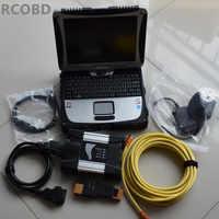 Pour bmw diagnostic scanner pour bmw icom suivant avec logiciel disque dur 500gb ista expert mode avec ordinateur portable cf19 écran tactile complet